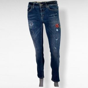 Dondup- Monroe embroidered jeans